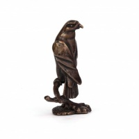 Miniature Bronze Eagle Sculpture