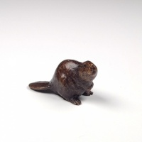 Miniature bronze beaver (open edition)
