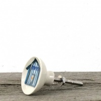 Beach hut ceramic knob