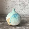 Stoneware spherical bottle - Overlapped design