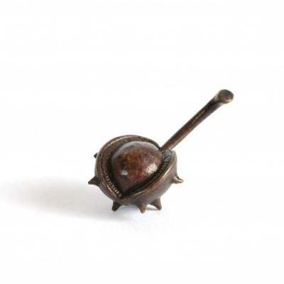 Miniature Bronze Conker in Shell Sculpture