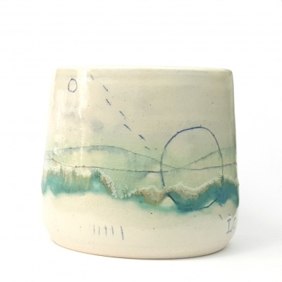 Seascape Japanese-style cup