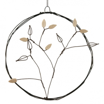 Large metal hanging wreath - Branch