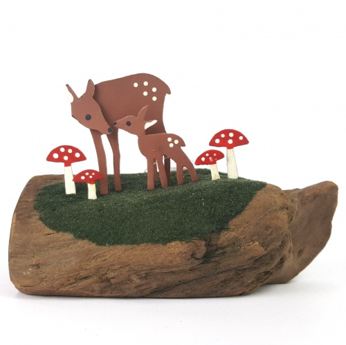 Fawn and Toadstools