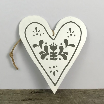 Nordic heart hanging decoration