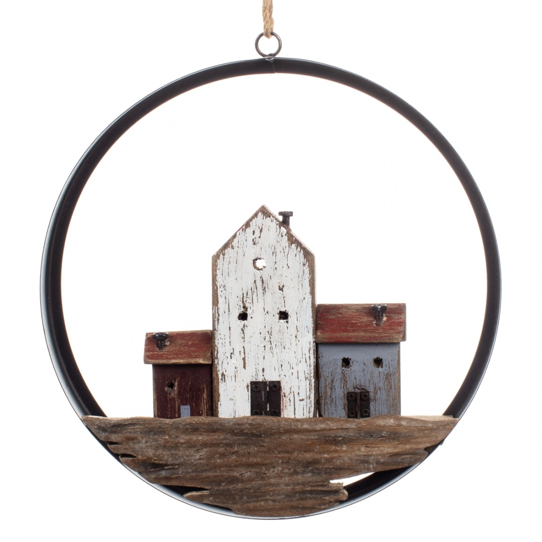 Cottages in Ring Large Hanging Decoration